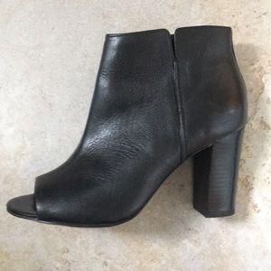 Aldo open toed black booties